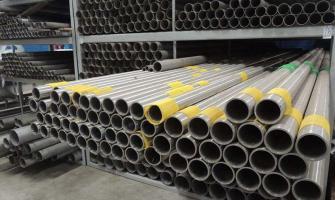 Tubo de aço inox com costura